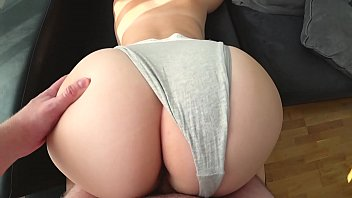 Big Butt White Girl Fucks Through Panties
