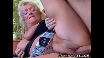 Busty Blonde Granny Discovers Young Cock oldandyoung oma oldvsyoung