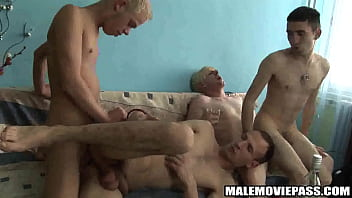 Four studs have some drinks before having group sexng fucked 3