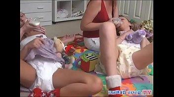 Baby diaper orgasm - Diaper