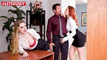 Office girls threesome Letsdoeit - shows us what you got boss nobody will know bunny colby lacy lennon