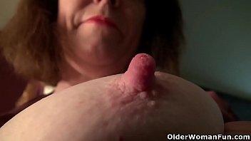 Long nipples mature - American milf brie bently rubs her pantyhosed pussy