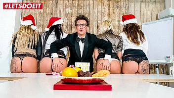 Adult christmas skits Letsdoeit - hot office christmas fuck fest with german milfs - part 1