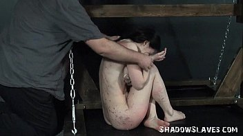 Young slave girls electro bdsm and teen punishment of kinky fetish submissive in slave in punishment
