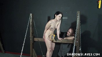 Young slave girls electro bdsm and teen punishment of kinky fetish submissive in