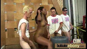 Bukkake coated ebony hottie 13 pornhub video
