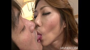 Two Horny Young Men Enjoy Touching And Fucking Horny Reina Nishio