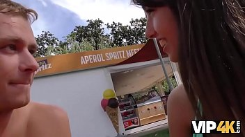 Vip4K. Hunter meets girl on public beach and has anal sex with her