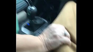 Mature lyft driver jacks my bbc on the way home
