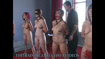 Bdsm training of - Day 2 of training 4 slaves