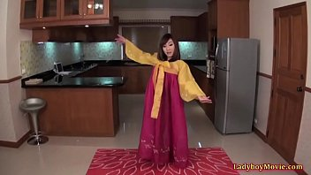 Shemales stripping videos Thai shemale patty in korean national clothes