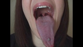 Sexy long tongue model Long tongue lesbian kiss