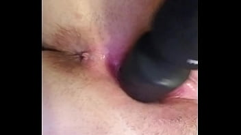Sexy white girl squirts all over herself