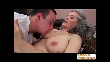 In grandmas pussy - Grey hair grandmother takes it deep