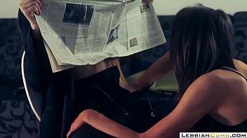 LesbianCUMS.com ⇨ Office Boss Lesbian Strapon Panties Doggystyle