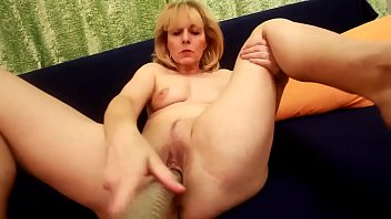 Kolo Blond Sticks A Big Dildo In Her Mature Old Pussy