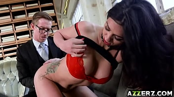 Hot Julia De Lucia takes a huge cock in her ass