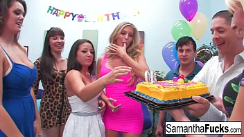 Samantha celebrates her birthday with a wild crazy orgy's Thumb