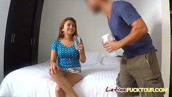 Latina Louisa gets pussy drilled on bed