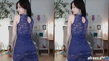 Sexy tight laced - 韩国bj蕾丝旗袍性感诱惑舞蹈更多福利公号91报社