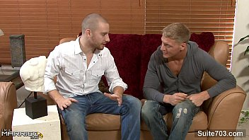 Short haired married guy 69ing with a gay