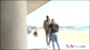 Young dude picks up girls to fuck right in the beach.