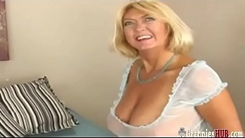 Cum on grannies huge boobs Lucky dude fucking busty gilf blonde