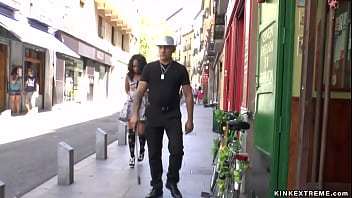 Spanish beauty fucked on the streets