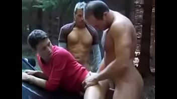 Two Dad fuck twink outdoor