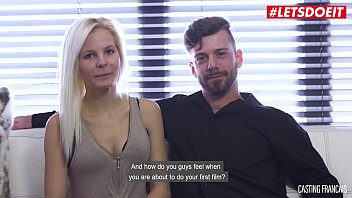LETSDOEIT - Horny Amateur Couple Fuck for The First Time On The Casting Couch