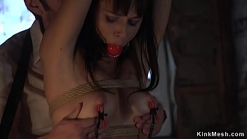 Husband anal bangs tied up wife in bed
