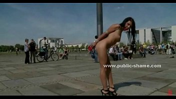Public sexual humiliation - Brunette babe humiliated in public sex