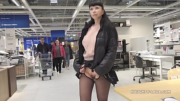 Upskirt in public mature Short skirt and sheer blouse for flashing and public upskirt
