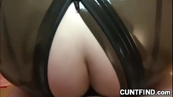 Sexy blonde in latex gets fucked