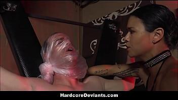 Hot MILF Dana Vespoli Humiliates Her Male Pet And Fucks HIm In The Ass With Strapon Bondage