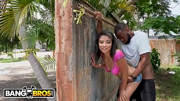 Latex paint black - Bangbros - ebony maya bijou gets fucked in public by multiple guys