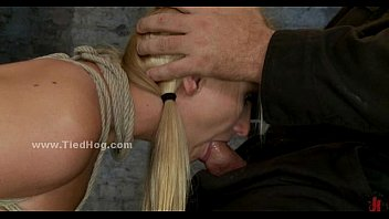 Forced sex slaves videos Blonde busty sex slave is forced to swallow cock in extreme deepthroat sex video