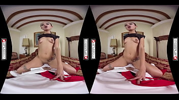 Assassins Creed Cosplay VR Porn starring Jade Presley in action packed pussy fucking