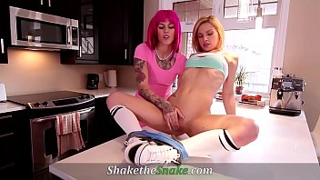 Shake The Snake - Shake The Snake - Kinky Lezzie Wild Sex On Kitchen Counter