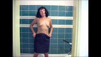 Naked peeing beauties - Beautiful russian brunette girl peeing in the shower