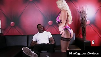 Phat Ass Nina Kayy Pussy Plugged & Butt Banged By Black Cock