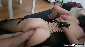 Handcuffed Amateur Fetish Slut Loves a Fist in Her Ass