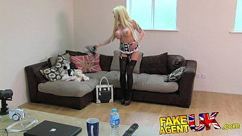 Cameo lingerie uk - Fakeagentuk glamour model turns cock jockey in fake casting