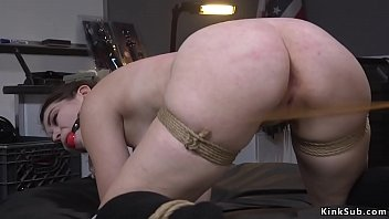 Busty shoplifter caned and anal fucked
