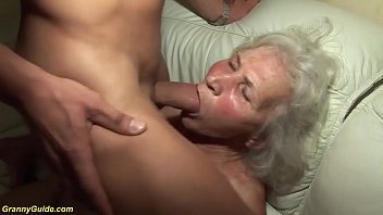 Movies grandma facial - Crazy 75 years old grandma first porn video