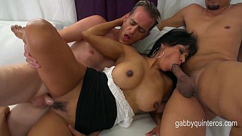 Gabby Quinteros gets Double Teamed By Her Horny Students