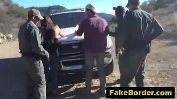 Fake Mexican border patrol lured beautiful brunette jth-great-deliberation-72p-3