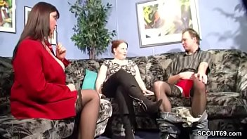 Mature couple teaching young couple sex German milf teach young couple to clear sex problems