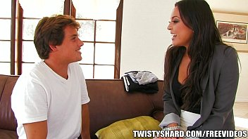 Adrianna ass - Incredibly hot cali chick strips down fuck a rough fuck on the couch