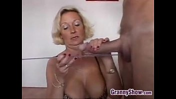 Horny Grandma With Two Cocks In A Threesome Thumb